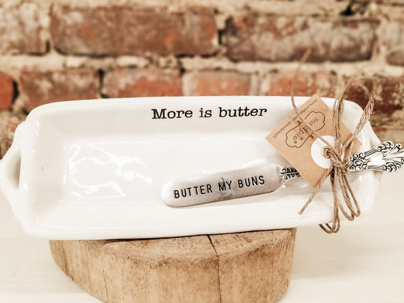 Circa Butter Dish and Knife