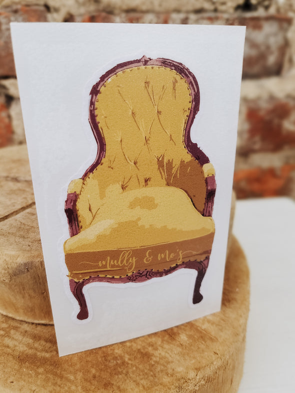 The Mully & Mo's Chair Decal