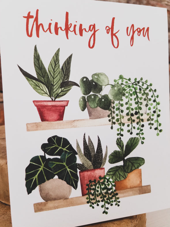 Thinking of You Plant Card