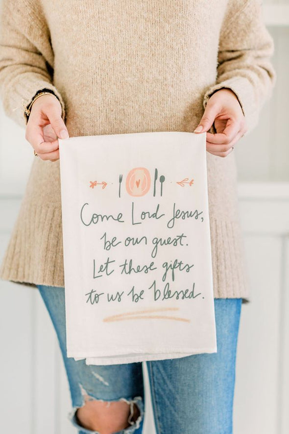 Dinner Prayer Flour sack Towel