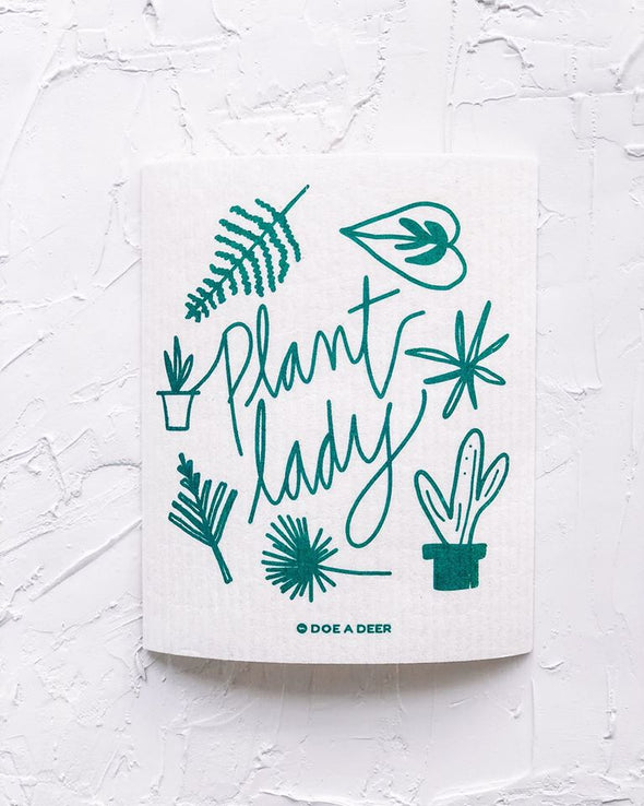 Plant Lady Swedish Dishcloth
