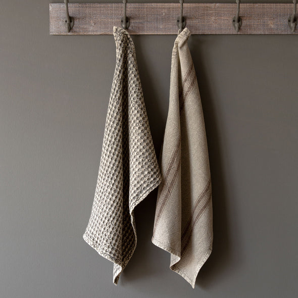 Set of Two Dish Cloths, Taupe