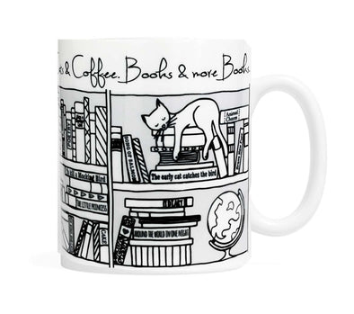Cats and Coffee and Books Mug