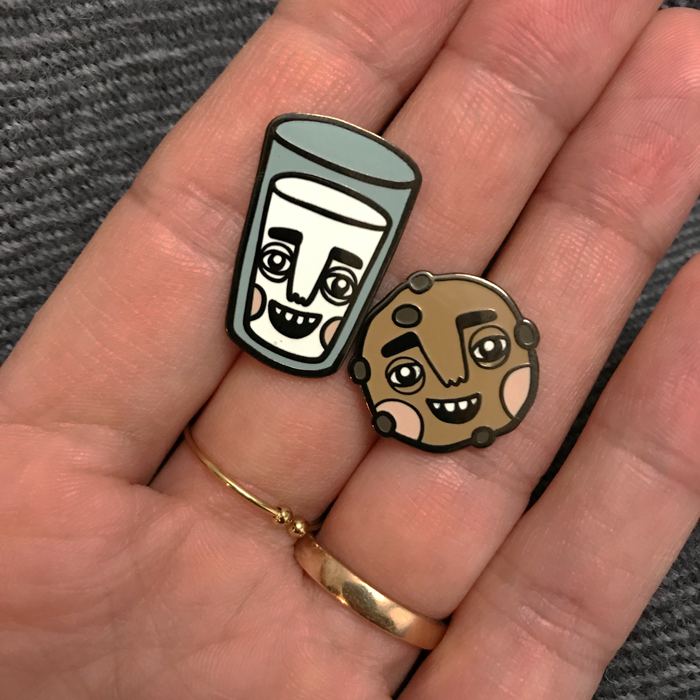 Pins - BFF Milk & Cookie