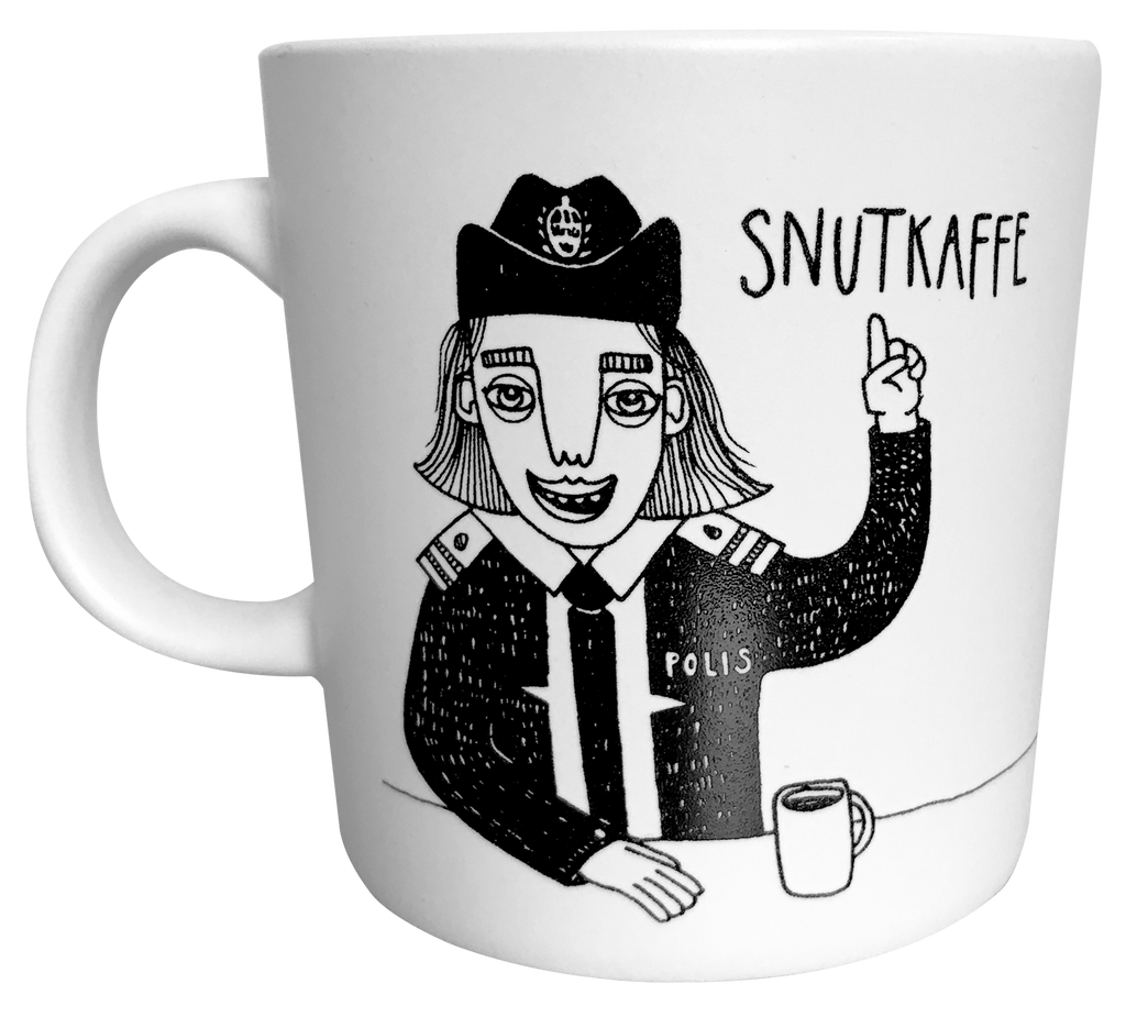 Swedish police mug from Bahkadisch by Karin Ohlsson