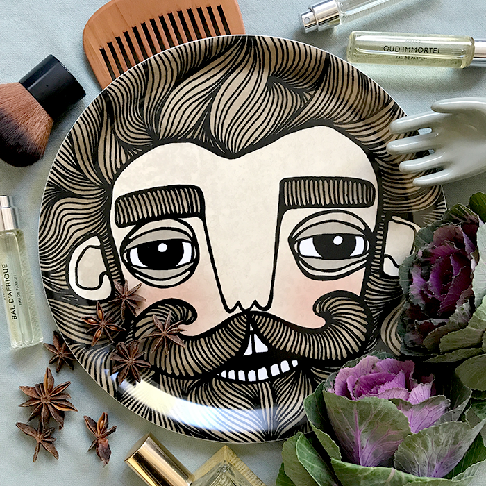 bearded man tray from Bahkadisch by Karin Ohlsson, Shop online now!
