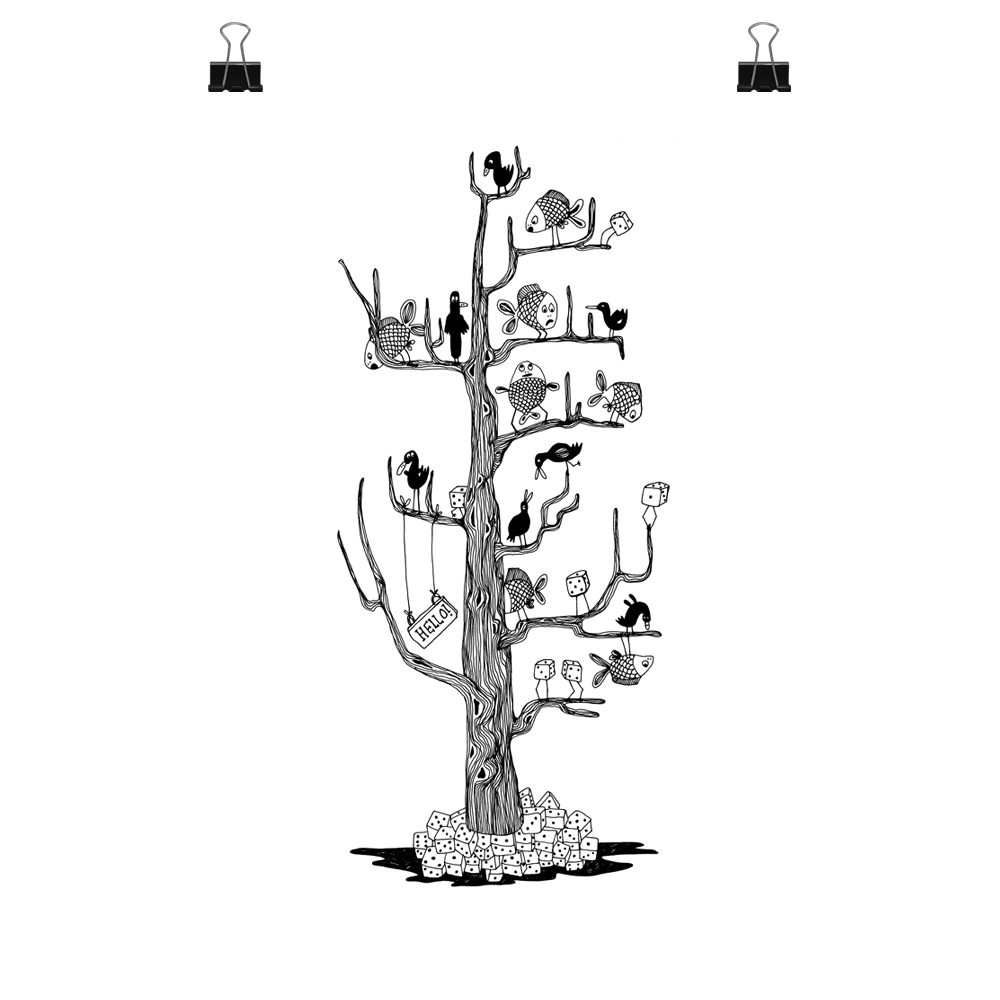 The BahKadisch Tree, print