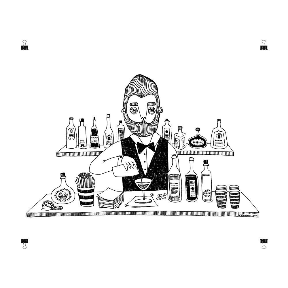 The Bartender, print