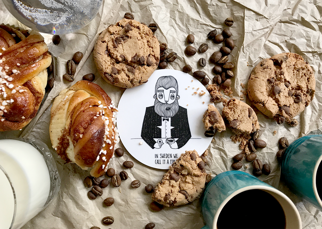 Swedish Bearded man coaster for your tea and coffee cups