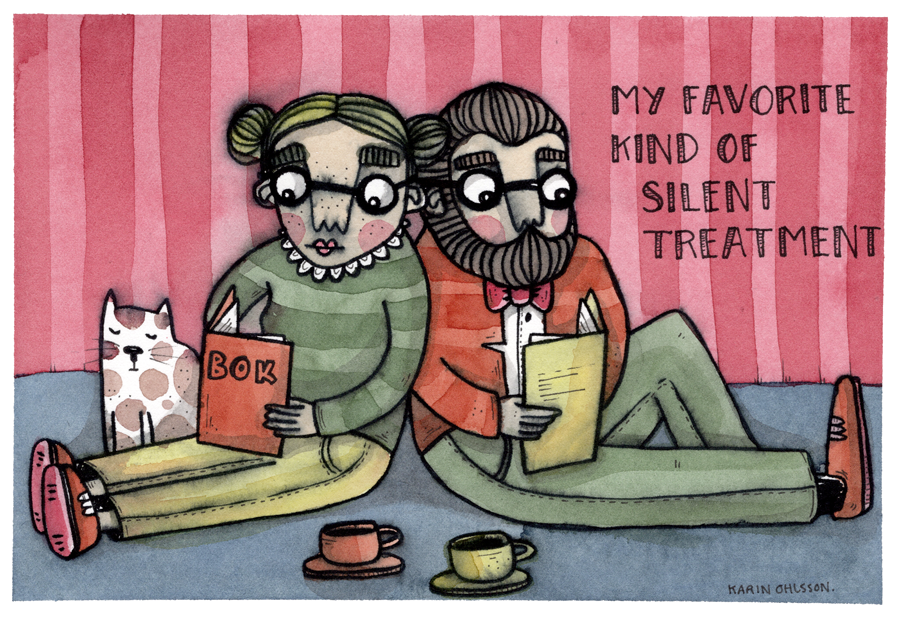 Originalillustration - Silent treatment