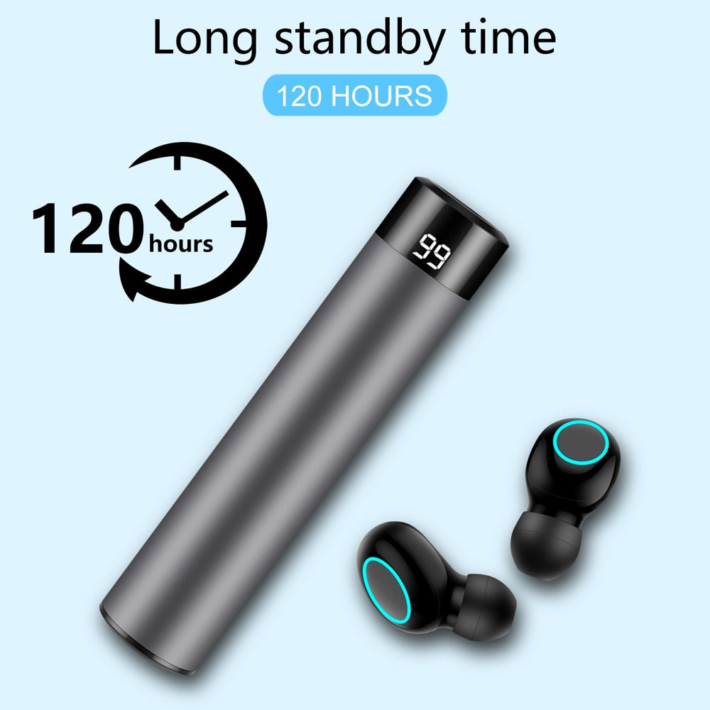 Wireless Bluetooth 5.0 Earbuds With Earphone Charger