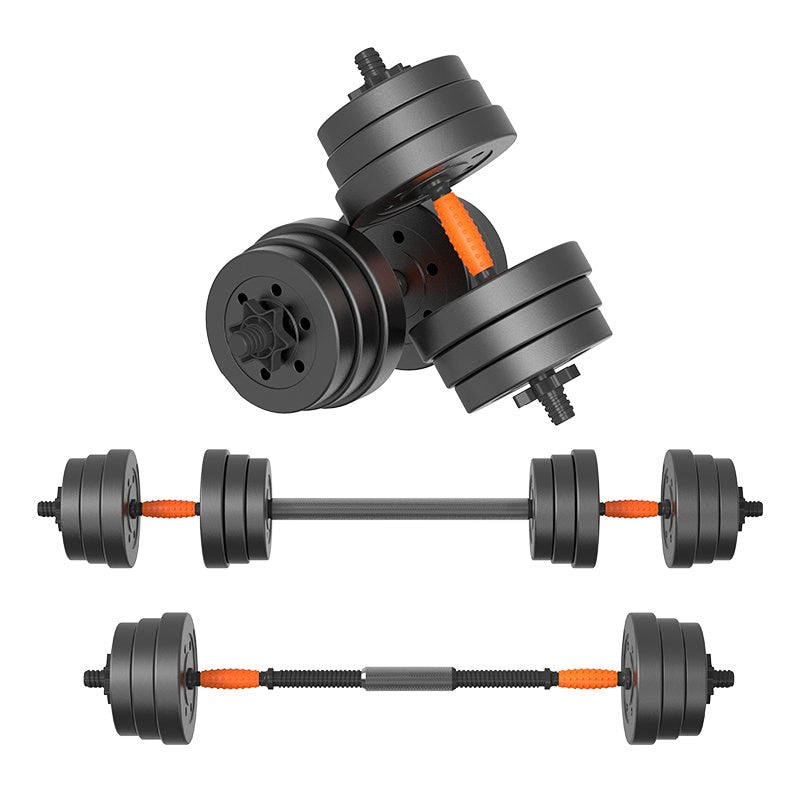10kg Gym Equipment Adjustable Barbell And Dumbbell's Dual-Use