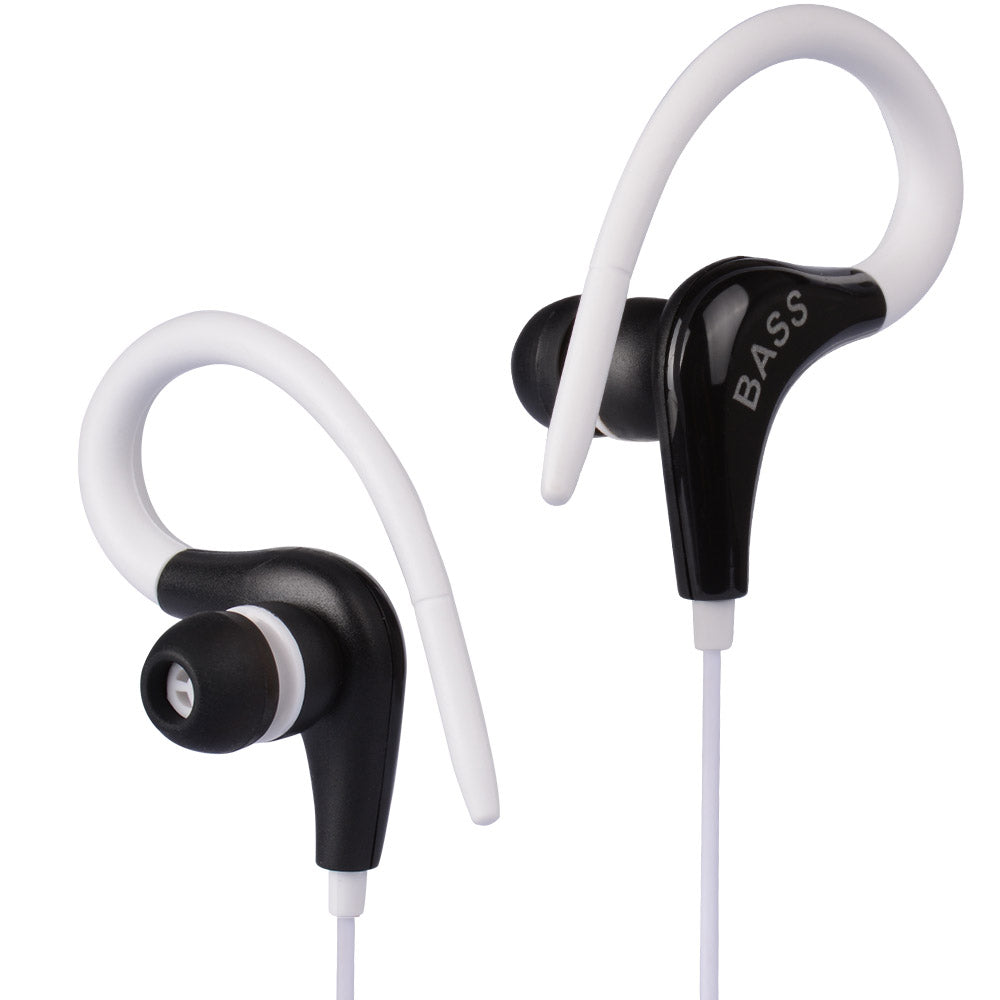 Ear Hook Headphones Great For Running/Gym
