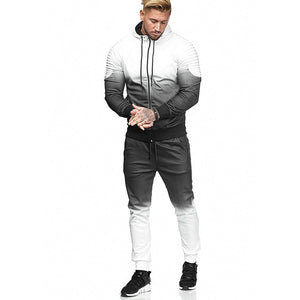 New Casual Men's Set Tracksuit