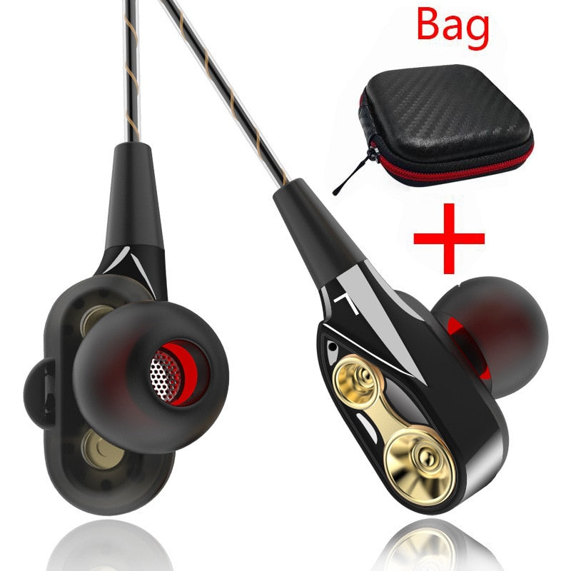 High Quality Double Unit Drive Earphones