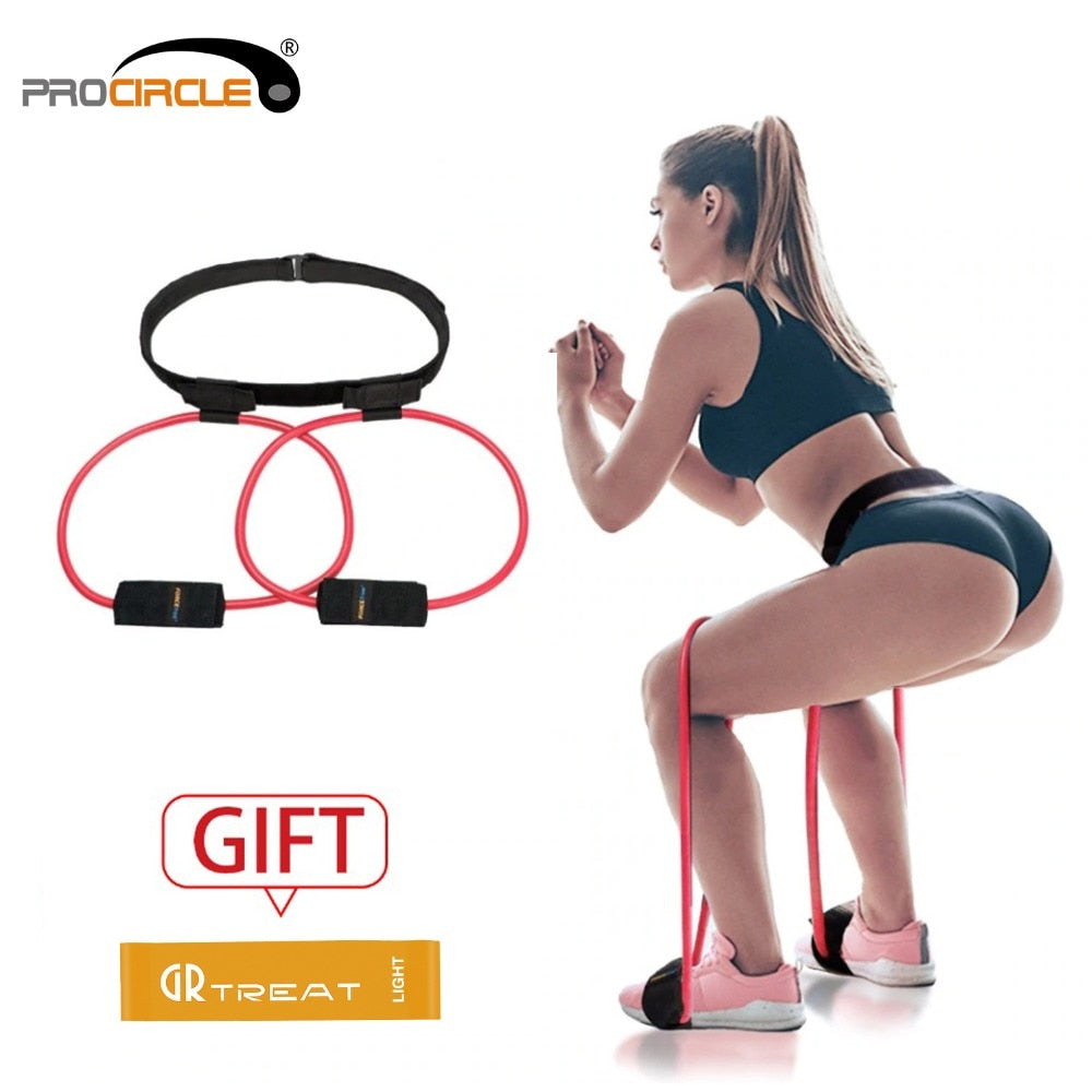 Women's Booty Resistance Bands And Adjustable Waist Belt