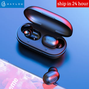 Fingerprint Touch Bluetooth Earphones, HD Stereo Wireless Noise Cancelling