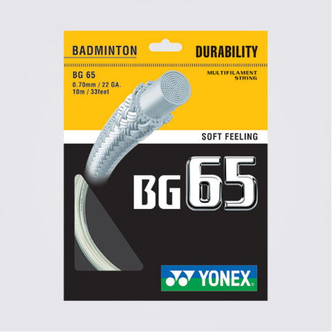 Yonex BG65 Durable Badminton String (3 pack)