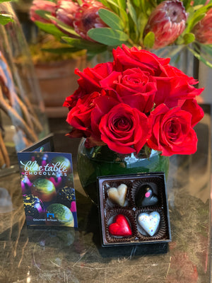 Valentine's Day (Petriflorals & Blue Table Chocolates)
