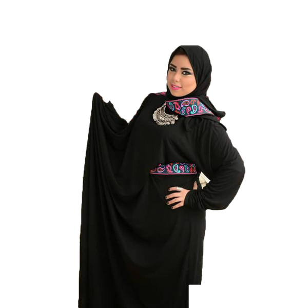 Reception Abaya with Belt -Blue