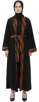 Black - Unlined - Abaya-854988