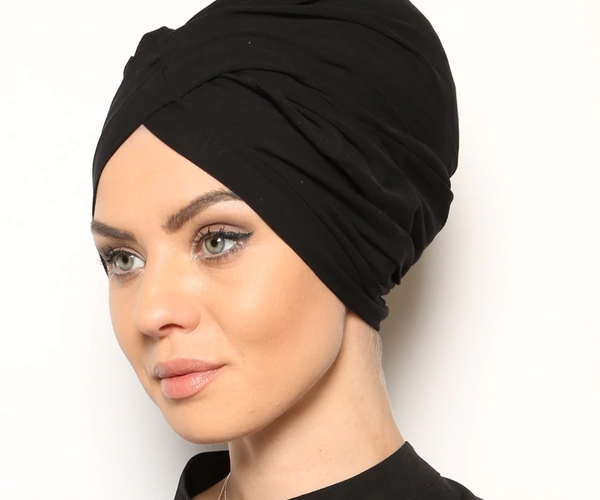 Instant Scarf - Cotton - Plain - Bonnet Modesty Turban -360231