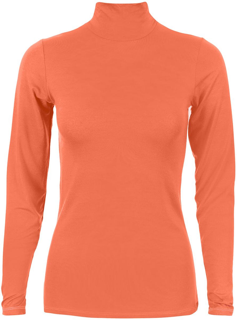 Basic-body-everyday-Coral pink t-Shirt For Women