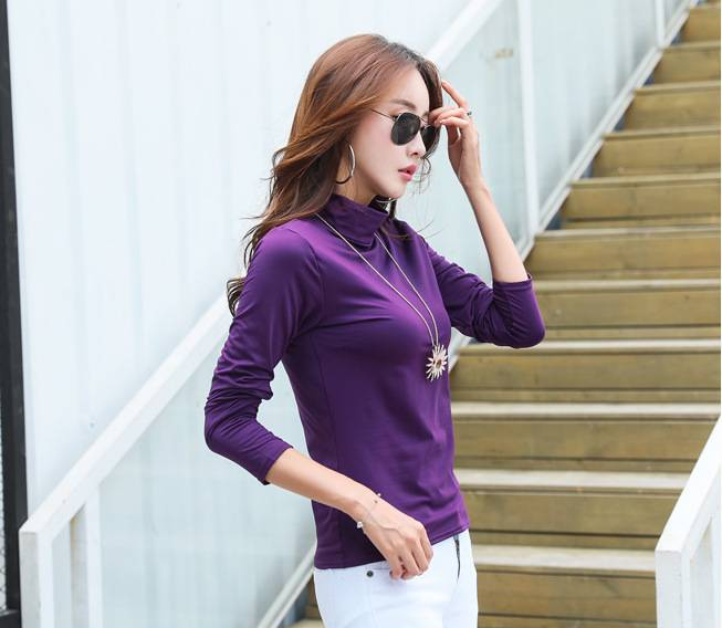 Basic-body-Purple t-Shirt For Women