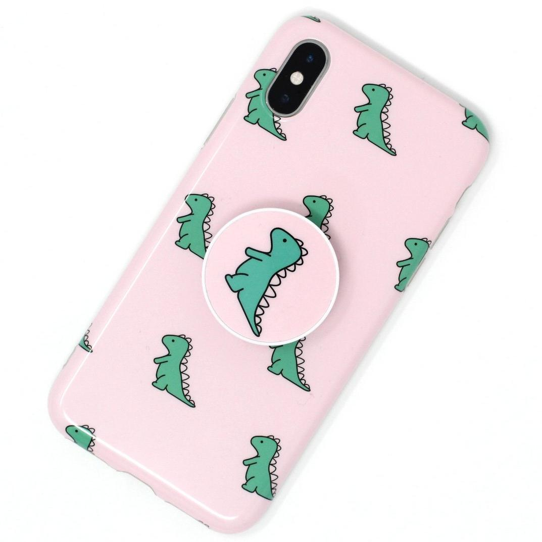 Cute Dino Case Pink w/ Grip