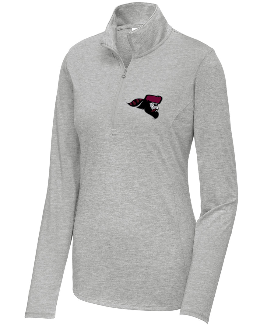 School Pride Womens 1/4 Zip Triblend Pullover