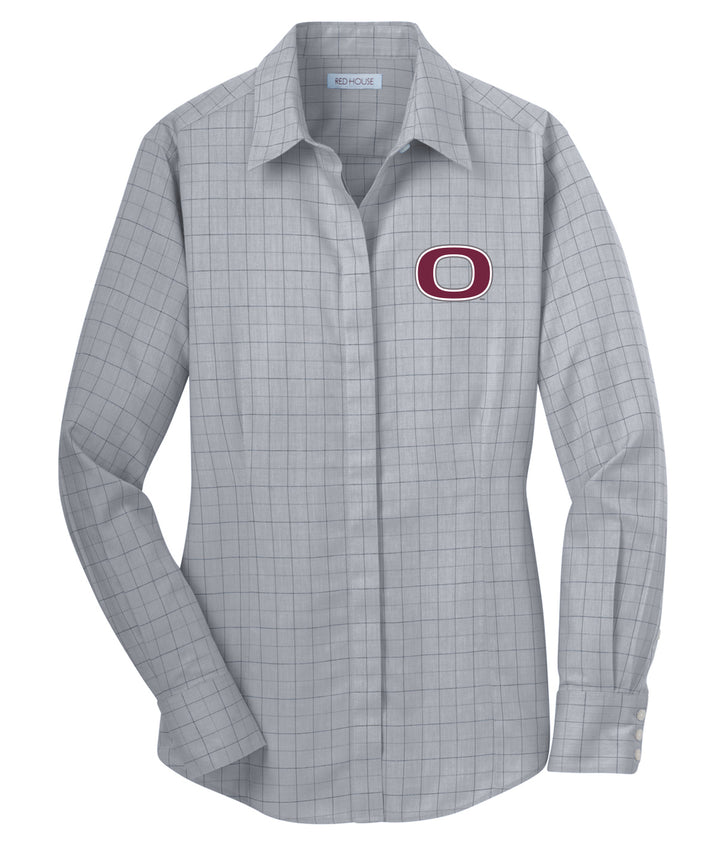 Okoboji Womens Plaid Dress Shirt