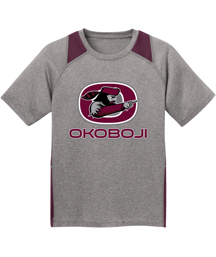 Okoboji Youth Colorblock Performance Tee