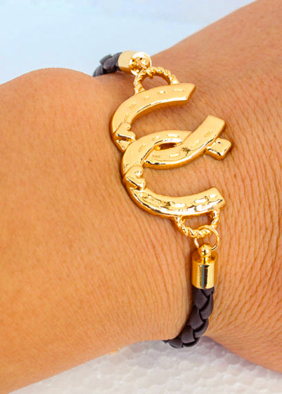 Double Luck | Double Horseshoe Bracelet
