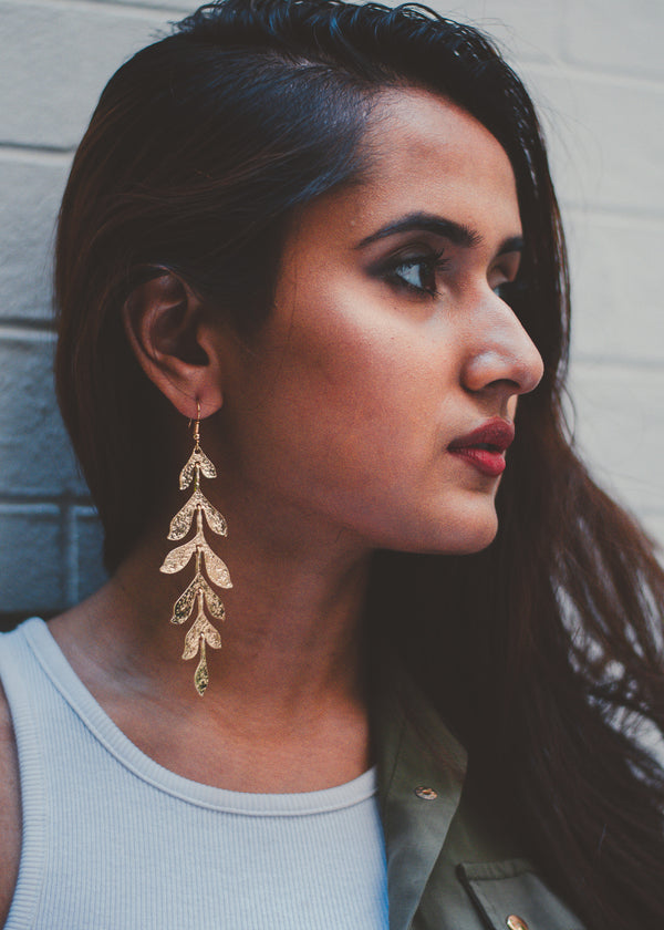 Gold Rangoli Drop Earrings
