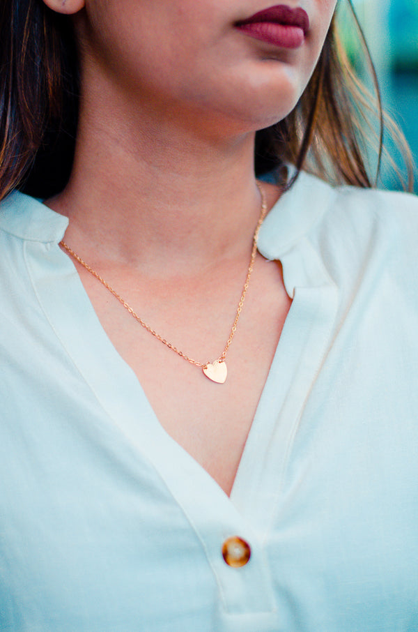 Tiny Heart | Gold Petite Necklace