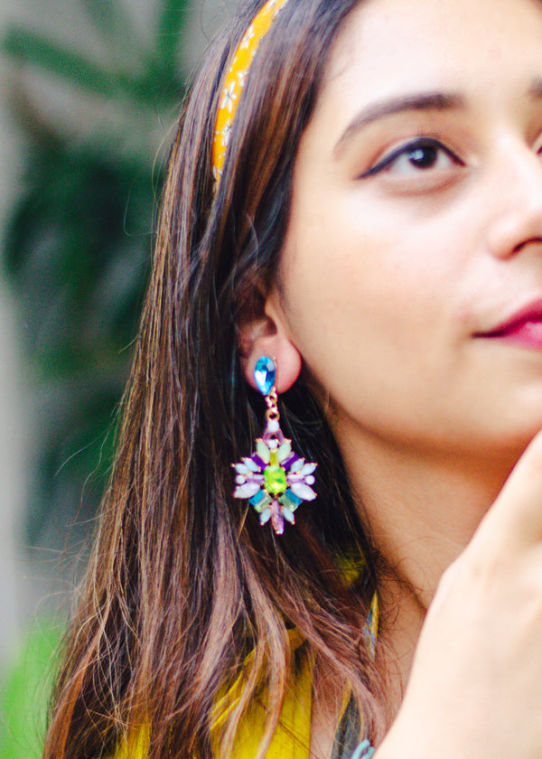 MULTICOLOURED VERSATILE DROP EARRINGS