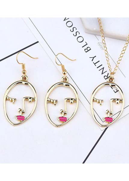 Wink Once Earring + Necklace Set