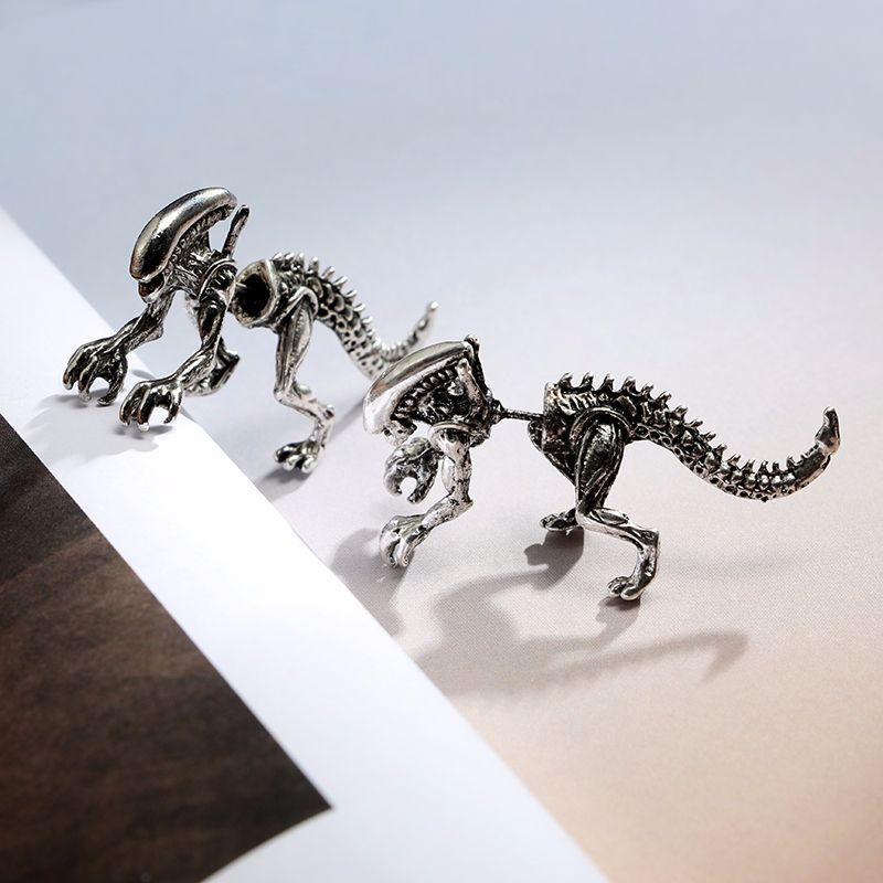 Antique Dinosaur Earrings
