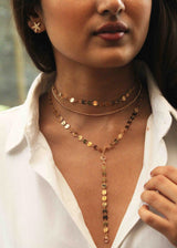 Layered Gold Glam Necklace