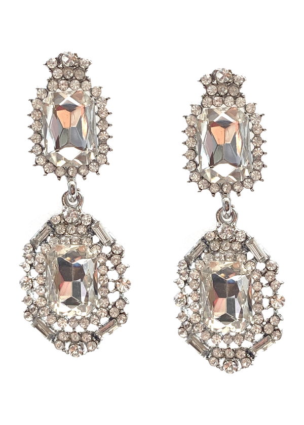 Statement Clear Crystal Earrings