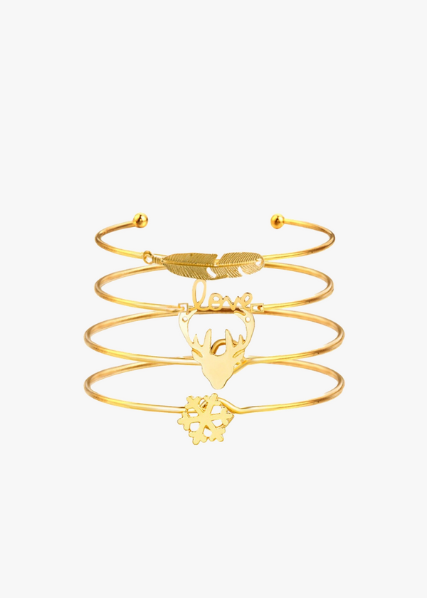 4PCS LOVE INSPIRED BANGLES