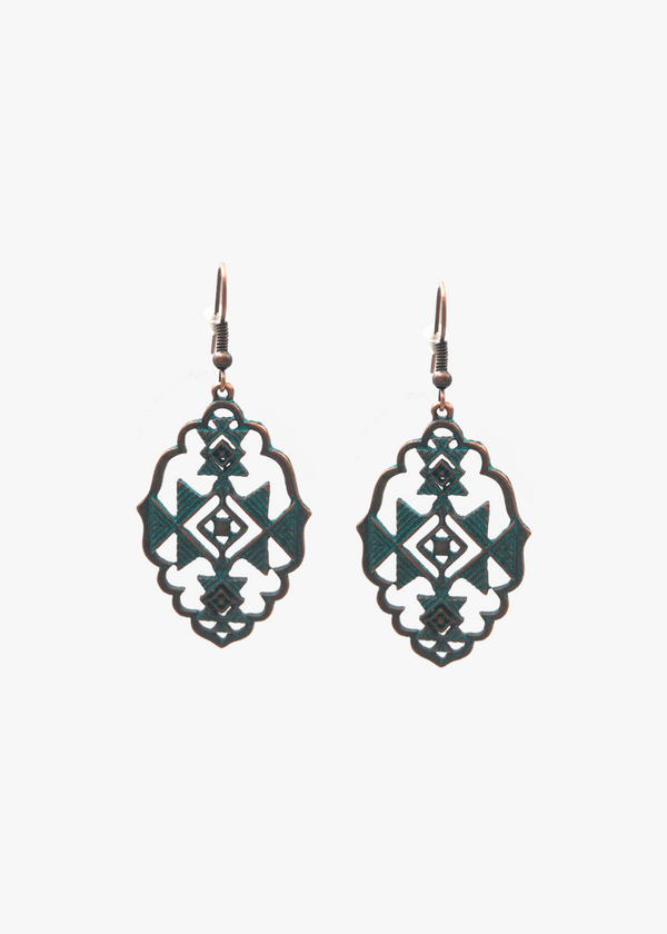 ANTIQUE METAL DROP EARRINGS