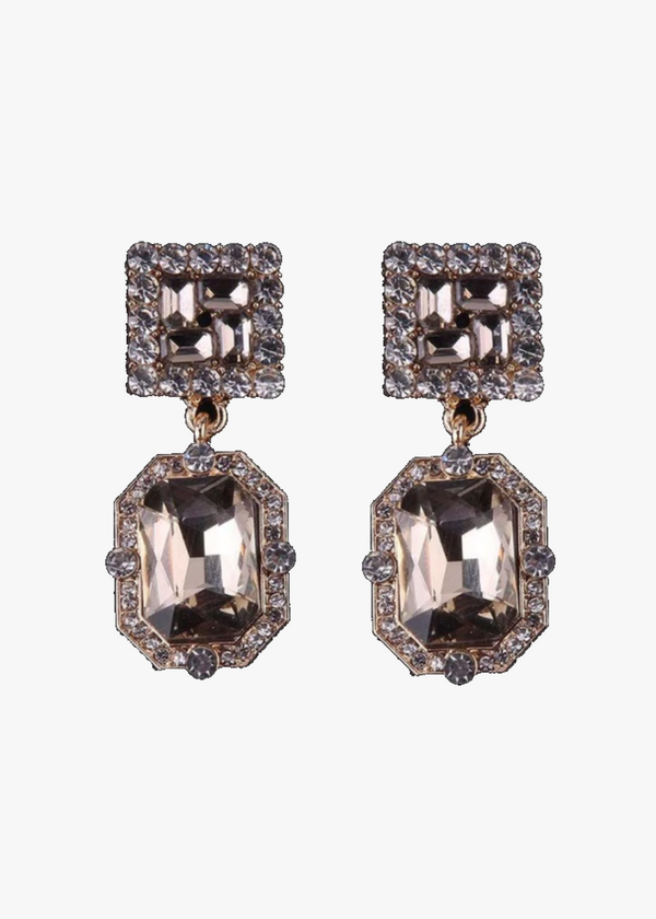 CLASSIC CRYSTAL CHAMPAGNE EARRING