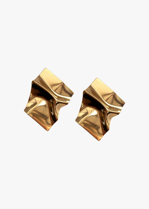 Crumbled Gold Studs