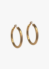GOLD TRENDY LOOP EARRINGS