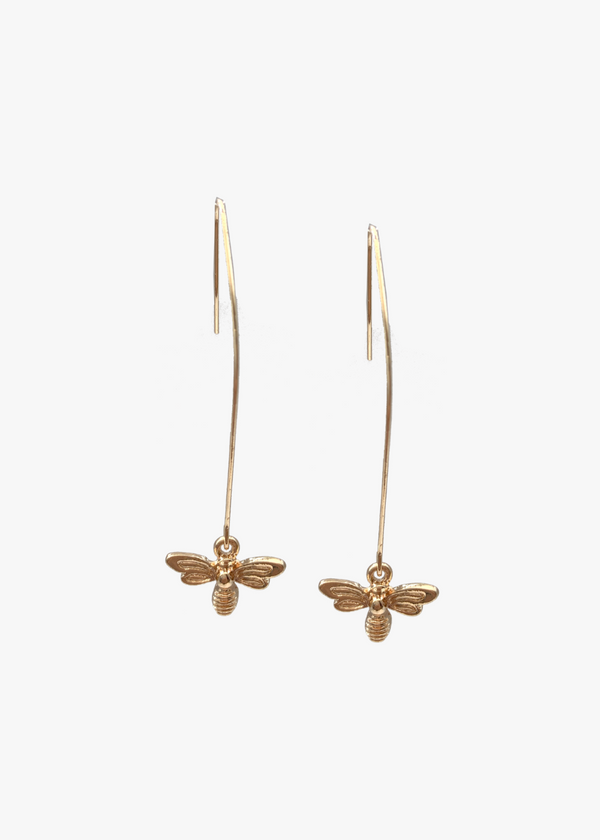HONEYBEE LONG DROP EARRINGS