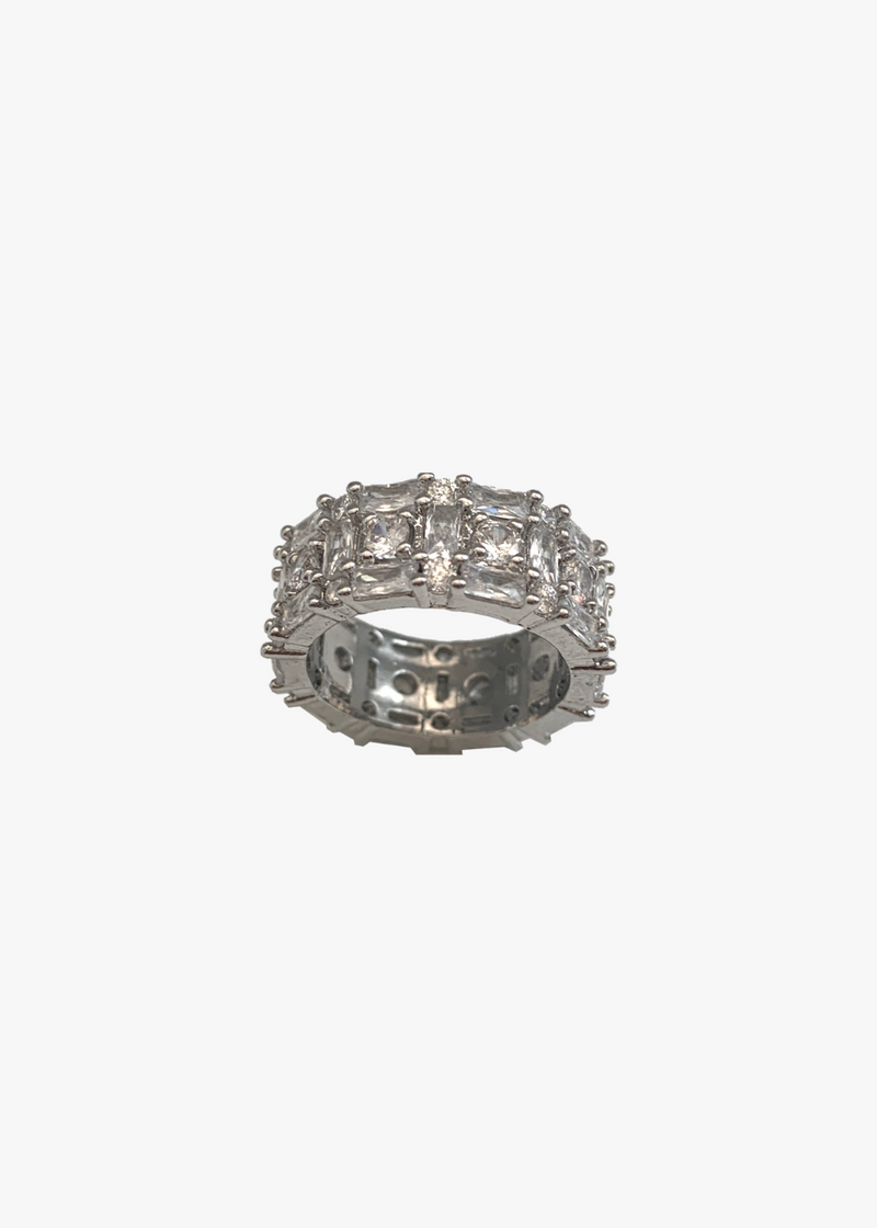 Milan Cocktail Thick Band Ring- SIZE 6