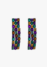 Psychedelic 3 Lined Earrings