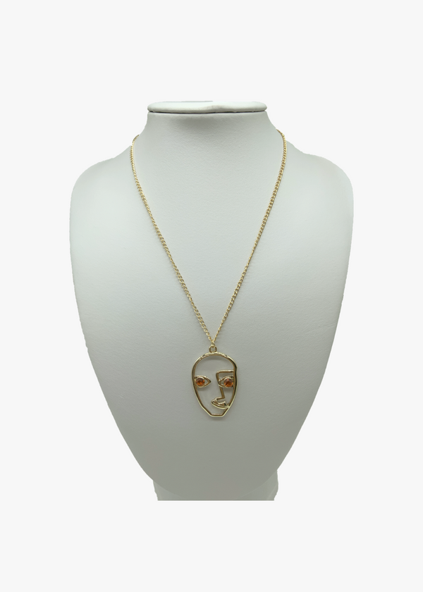 The Man With No Face Necklace