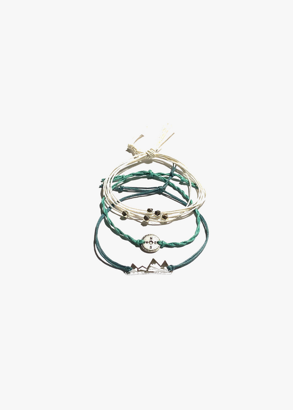 TRAVEL INSPIRED THREAD BRACELETS